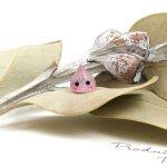 ◎【デコパーツ】森の妖精しずくちゃん《ピンクラメ》[雫,滴,貼り付け,デコ,きらきら,かわいい]