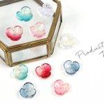 【ビーズ】5色×2個 グラデーションフラワー A級ガラス製《カラーアソート》[ガラス,雑貨,インテリア,花,はな,アクセサリー]