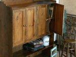◎△お急ぎ便不可△ オールドパイン材のステーショナリーキャビネット(飾り棚) 1890年代 イギリスアンティーク家具