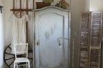 ◎△お急ぎ便不可△ ブルーグレーペイントのワードローブ 1880年代 ハンガリーアンティーク家具