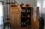 ◎△お急ぎ便不可△ 収納家具に最適のオールドパインキャビネット(飾り棚) 1890年代 イギリスアンティーク家具