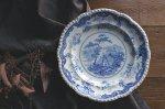 ◎△お急ぎ便不可△ イギリスアンティーク食器 ウォームプレート(皿) Chinese Marine 1840年代 et141256