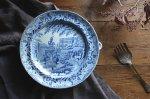 ◎△お急ぎ便不可△ イギリスアンティーク食器 ウォームプレート(皿) SEMI-CHINA 1820年代 et141260