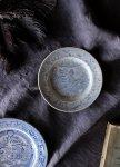 ◎△お急ぎ便不可△ イギリスアンティーク食器 ヴィクトリアンの小皿(プレート) ブルー&ホワイト