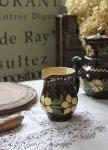 ◎△お急ぎ便不可△ 南仏 花柄のジャグ 素朴な陶器 雑貨 フランスアンティーク