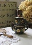 ◎△お急ぎ便不可△ 南仏 花柄のコーヒーポット 素朴な陶器 雑貨 フランスアンティーク
