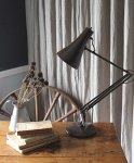 ◎△お急ぎ便不可△ イギリスアンティーク照明(ライト) 茶色のアングルポイズ デスクランプ