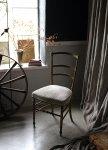 ◎△お急ぎ便不可△ 金色が上品な椅子 ゴールドナポレオンチェア フランスアンティーク家具