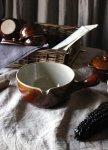 ◎△お急ぎ便不可△ DENBY(デンビー)の茶色の片手パン イギリスアンティーク雑貨 陶器