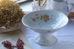 ◎△お急ぎ便不可△ 花模様の色鮮やかなコンポート フランスアンティーク食器 花器 陶器