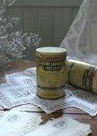 ◎△お急ぎ便不可△ 小麦粉が入っていた美しいレタリング!アンティークTin缶 フランスアンティーク雑貨 fo161049・51