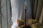 ◎△お急ぎ便不可△ シンプルなデザインが素敵な木製テーブルランプスタンド イギリスアンティーク照明 el151007