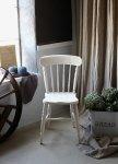 ◎△お急ぎ便不可△ キッチンチェア 艶のあるホワイトペイント 椅子 イギリスアンティーク家具