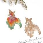 【透かしチャーム】きんぎょ《きれいめゴールド》[金魚,魚,和,和風,日本,金魚すくい,夏,なつ,透かし]
