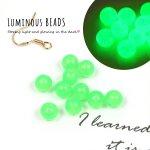 【ビーズ】10個 蓄光ビーズ 6mm《ライムグリーン》[アクリル,丸,円,球,光る,蓄光材,夜光]