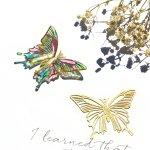 【メタルチャーム】バタフライ C《ゴールド》[ちょうちょ,チョウチョ,蝶々,昆虫,虫,ミニ,薄い,透かし]