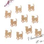 ◎【チャーム】10個 ふりむきネコ 楽々封入♪カン無しチャーム《きれいめゴールド》[お買い得,手芸,猫,ねこ,cat,にゃんこ,封入,ニャンコ,動物,animal]