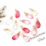 ◎【チャーム】12個 桜の花びらトランスミッション ガラス製《3色MIX》[さくら,サクラ,花,フラワー,春,手芸,和風,日本]
