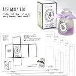 ◎【レフィル】5種セット BOX紙 立体香水瓶制作キット No.4(型番:17448-G) GreenOceanオリジナル♪[替え,ボックス,箱,プレゼント,3Dモールド用]
