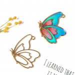 【空枠】バタフライ7《きれいめゴールド》[チョウチョ,蝶々,昆虫,春,スプリング,レジン枠,フレーム,手芸,ちょうちょ]
