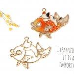 【空枠】おめで鯛猫《きれいめゴールド》[魚,ねこ,ネコ,にゃんこ,ニャンコ,手芸,釣り,お祝い,縁起物]