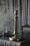 ◎△お急ぎ便不可△時代を経た真鍮が味わい深いキャンドルスタンド フランスアンティークインテリア雑貨 fo191057