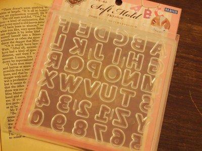 【シリコン型・モールド】アルファベット&数字♪ ◎◎◎