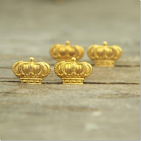 ちっちゃな王冠のモチーフ4個セット