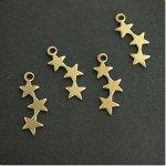 キラキラお星さま4個セット [ほし,ホシ,スター,フレーム,レジン枠,宇宙,夜空]
