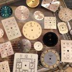 ◎【本物の時計パーツ】おまかせ12枚 時計の文字盤  [時計部品,ギア,歯車,watch parts]◇
