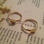 リング土台(2個セット)・きれいめゴールド・指輪土台