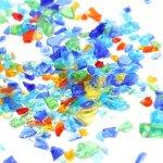 ◎【封入素材】20g Sサイズ ガラスのつぶつぶMIXカレット [粒,クラッシュ,夏,sea]