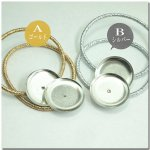 皿つきキラキラヘアゴム(小)《ゴム色:ゴールド/シルバー》2個セット