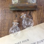 【ガラスビン】ドーナツまんまるガラス瓶《クリア》(2個セット)