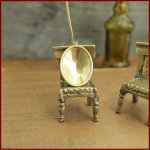 【ブラスパーツ】セッティング台・オーバル・大(25×18mm)《真鍮色》