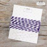 【ネックレス・紐】ツイストコード《紫×ホワイト》