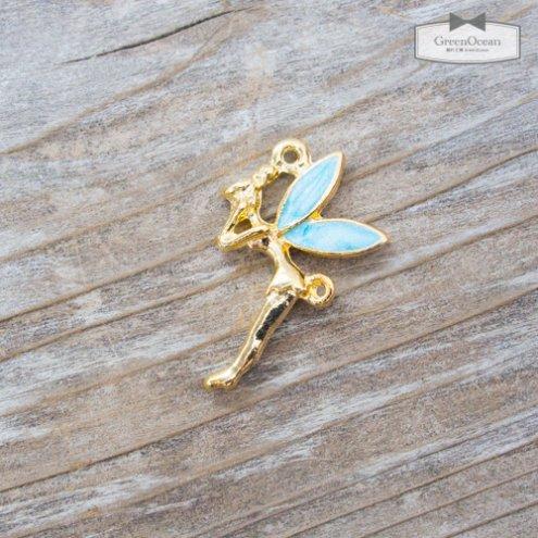 【チャーム】ティンカーベル 《きれいめゴールド×ブルー》 [妖精,ピーターパン,ようせい,童話]