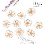◎【コネクター】10個 ワイヤーフラワー 八重桜 《きれいめゴールド》 [植物,サクラ,桜,春,和風,日本]