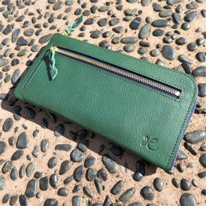 L型長財布(ターコイズグリーン)