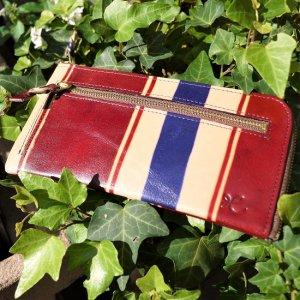 L型長財布(ストライプレッド)