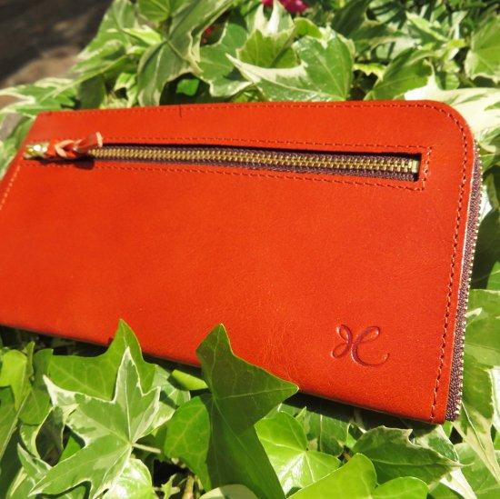 L型長財布(スカーレットオレンジ)