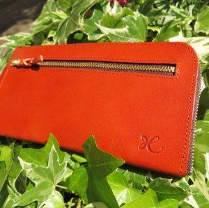 L型長財布(オレンジ)