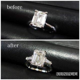 ジュエリーリフォーム例 素晴らしく上質な2ct超えのダイヤモンドをプラチナリングに