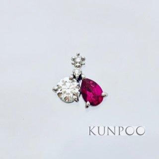 ルビーとダイヤモンドのプラチナペンダント