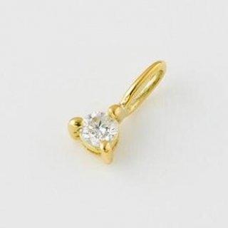【受注制作】ミニミニ誕生石 K14シャトン 4月ダイヤモンド 11000円