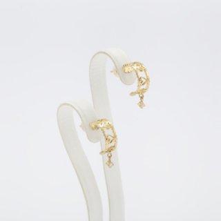 【受注制作】ルルピアス K18 ダイヤモンド留め 50000円