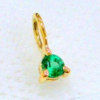 【受注制作】ミニミニ誕生石 K14シャトン 5月エメラルド 11000円