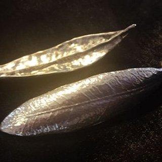オリーブの葉のお箸置き2個セット(2014年クリスマス ローマ法王への献上品) 10000円