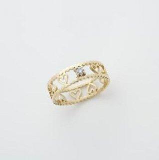 【受注制作】ルルK18 ダイヤモンドリング 49000円