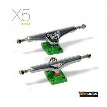 YTRUCKS CHROME/GREEN X5【34mm】【指スケ】